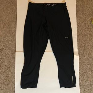 Nike Relay Capri Running tights Black size L